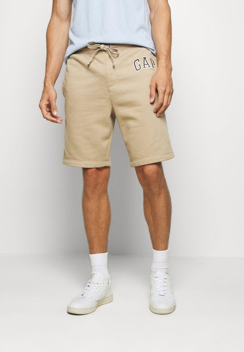 GAP - ARCH  - Tracksuit bottoms - beige