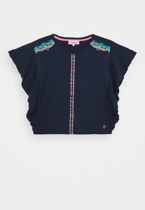HINLEY - Print T-shirt - dark blue