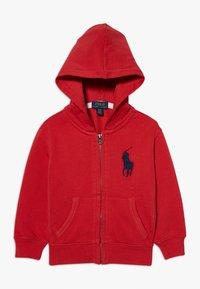 Polo Ralph Lauren - HOOD - Felpa aperta - evening post red - 0