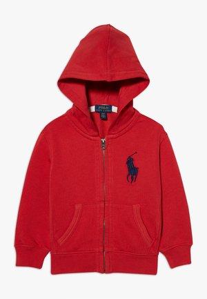 HOOD - Zip-up hoodie - evening post red
