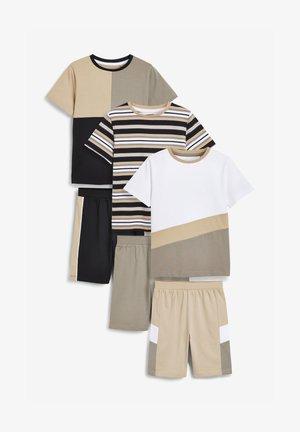 3 PACK - Pyžamová sada - light brown  white
