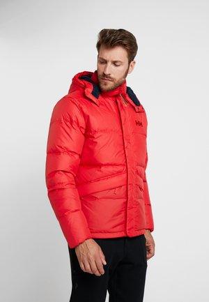 JACKET - Down jacket - flag red