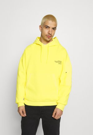 WASHED HOODY - Hoodie - opti yellow/black