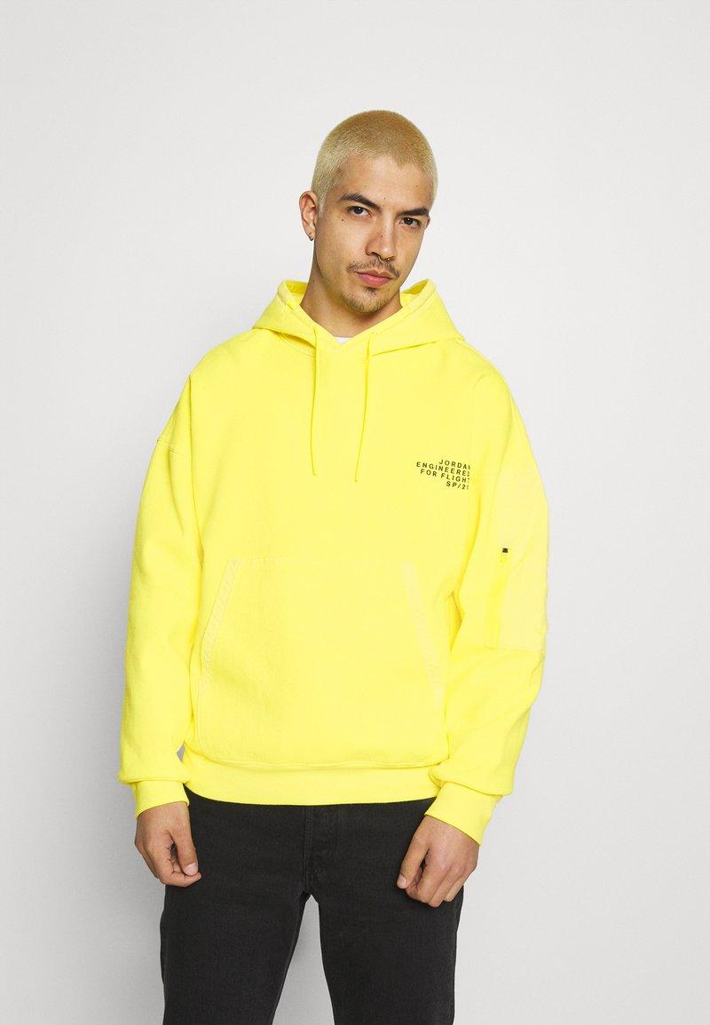 Jordan - WASHED HOODY - Luvtröja - opti yellow/black