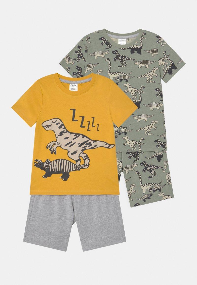 Lindex - MINI DINO 2 PACK - Pyjamas - khaki