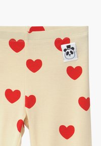 Mini Rodini - HEARTS - Leggings - Trousers - offwhite - 3