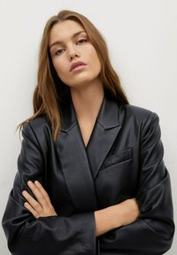 Mango - COMBI - Faux leather jacket - schwarz - 3