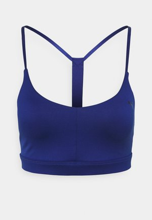 LOW IMPACT STRAPPY BRA - Light support sports bra - elektro blue