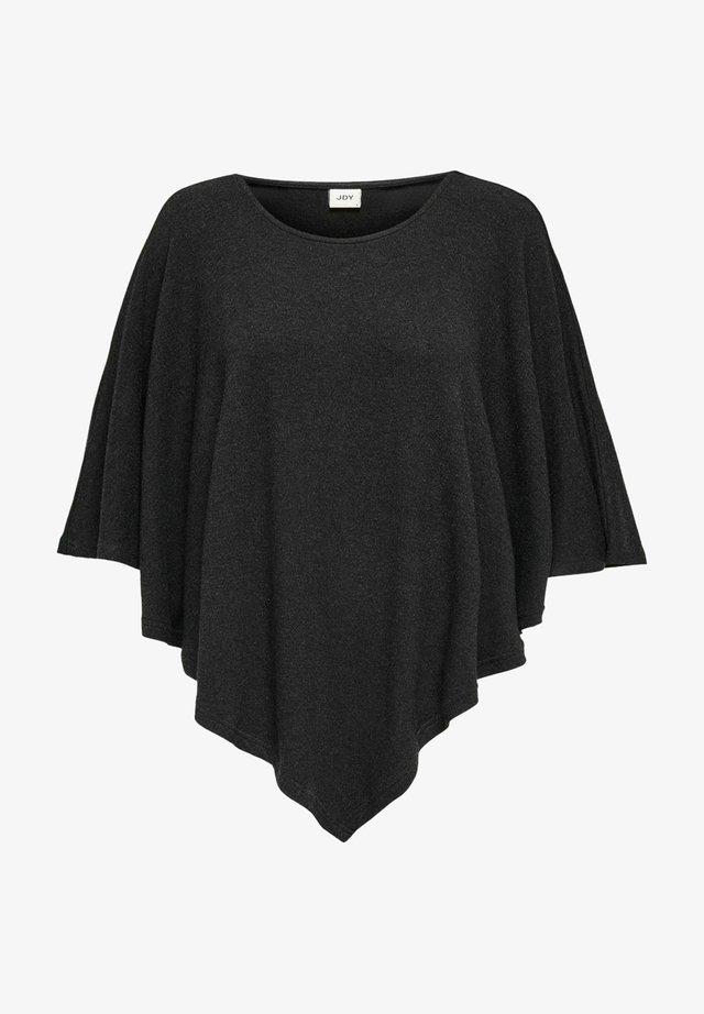 Poncho - dark grey melange