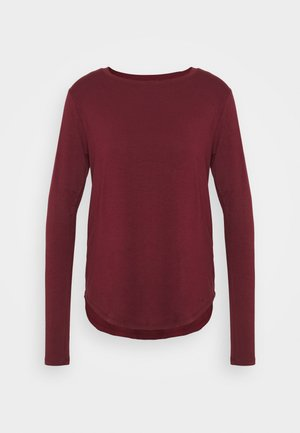 EASY CREW - Long sleeved top - burgundy