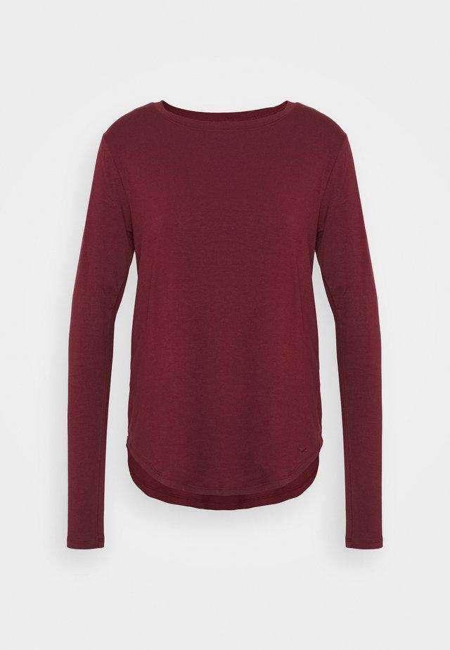 EASY CREW - T-shirt à manches longues - burgundy