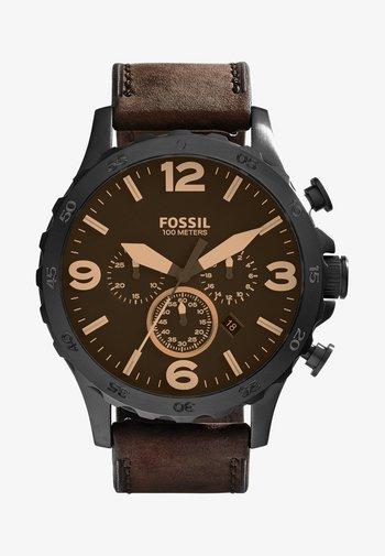 Chronograph watch - brown
