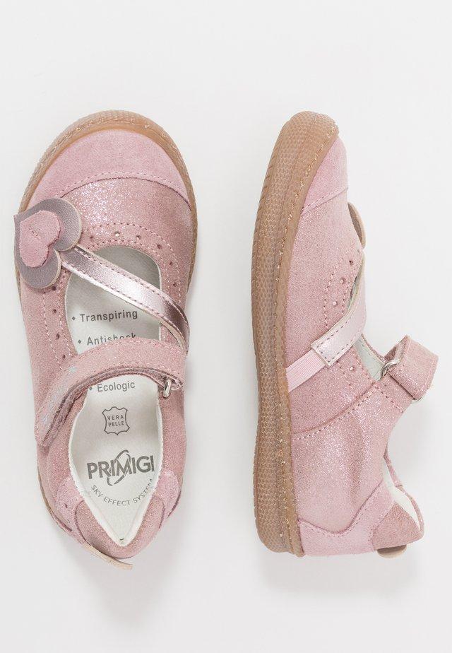 Ballerinat nilkkaremmillä - light pink