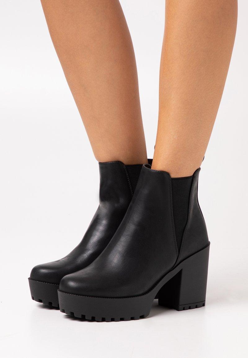 Even&Odd Wide Fit - Ankelboots - black