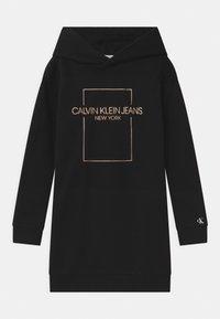 Calvin Klein Jeans - OUTLINE LOGO BOX HOODIE  - Day dress - black - 0