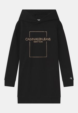 OUTLINE LOGO BOX HOODIE  - Day dress - black