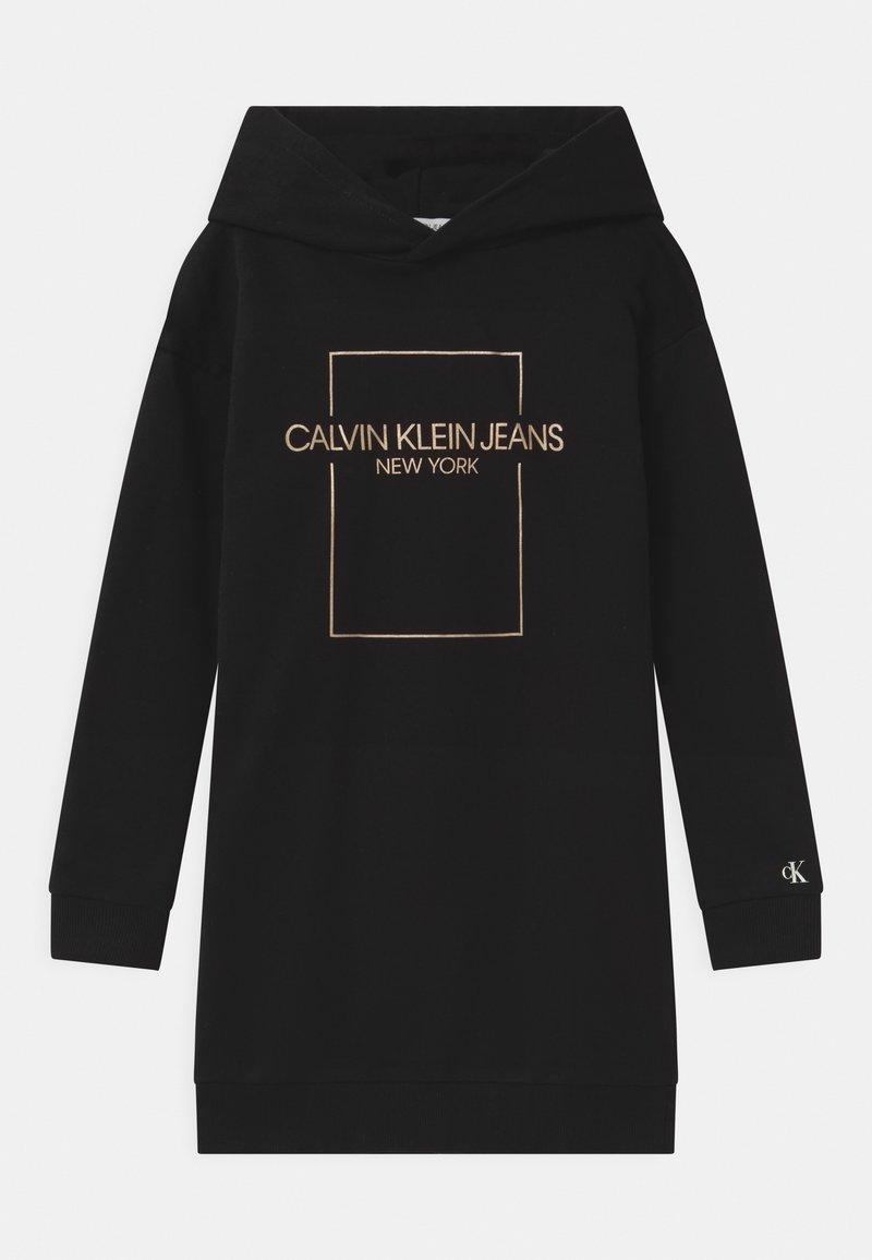Calvin Klein Jeans - OUTLINE LOGO BOX HOODIE  - Day dress - black