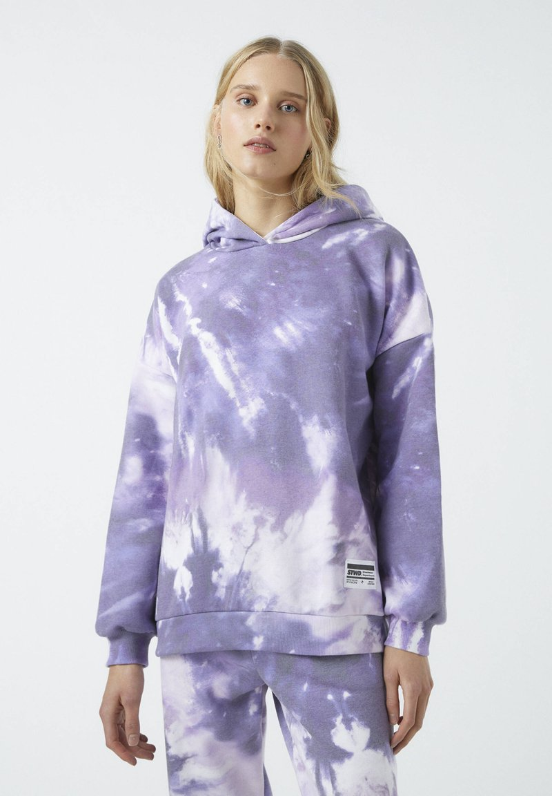 PULL&BEAR - Bluza z kapturem - purple