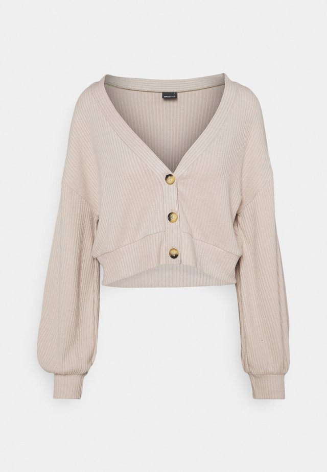SOPHIE PETITE - veste en sweat zippée - beige