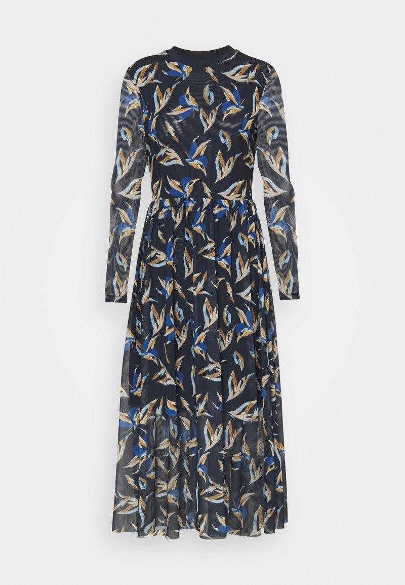 TOM TAILOR DENIM - PRINTED DRESS - Maxi dress - blue