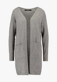 Vero Moda Petite - VMBRILLIANT LONG OPEN CARDIGAN - Cardigan - medium grey melange - 3