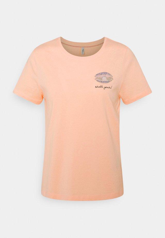 ONLKITA LIFE BOX - T-shirt con stampa - peach melba