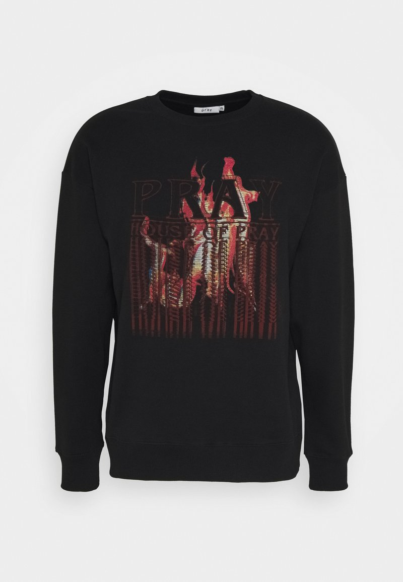 PRAY - FLAMESLONG SLEEVE UNISEX - Collegepaita - black