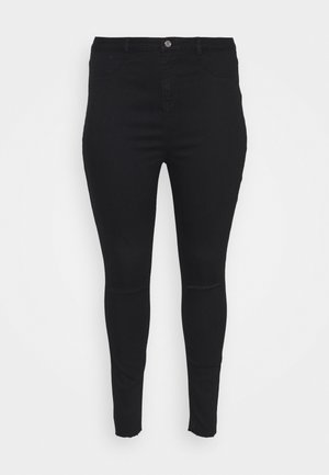 LAWLESS SLASH KNEE HIGHWAISTED SUPERSOFT - Jeans Skinny - black