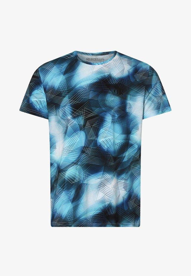 Print T-shirt - türkis marine
