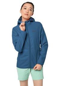 Jack Wolfskin - NORTHERN POINT WOMEN - Soft shell jacket - indigo blue - 0