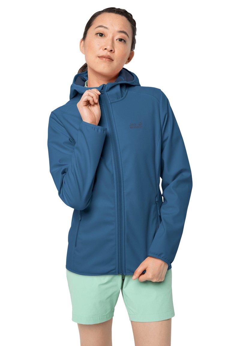 Jack Wolfskin - NORTHERN POINT WOMEN - Soft shell jacket - indigo blue