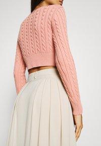 NA-KD - PLEATED MIDI SKIRT - A-line skirt - beige - 3