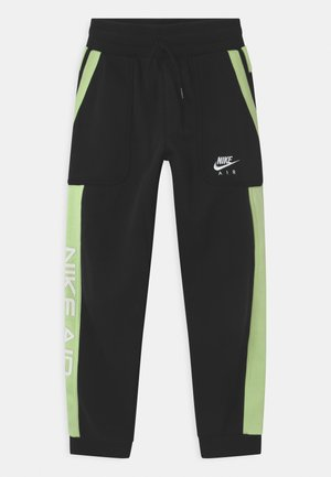 AIR - Tracksuit bottoms - black/light liquid lime/white