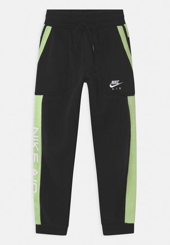 AIR - Pantaloni sportivi - black/light liquid lime/white