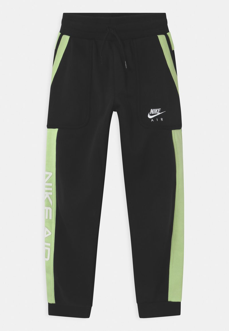 Nike Sportswear - AIR - Pantalones deportivos - black/light liquid lime/white