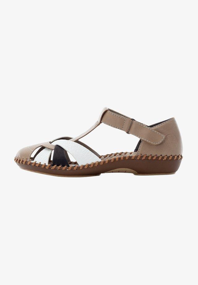 Sandales - beige white black