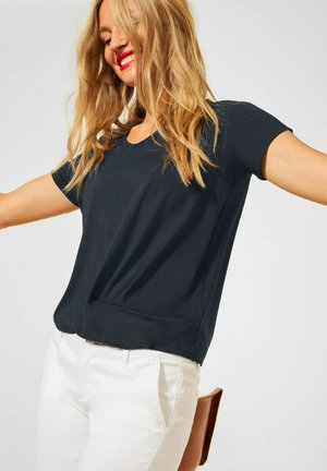 KNOTEN DETAIL - Print T-shirt - blau