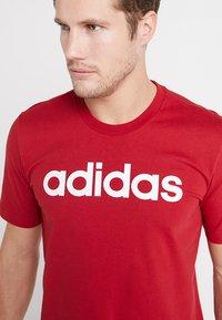adidas Performance - LIN TEE - Print T-shirt - red - 4