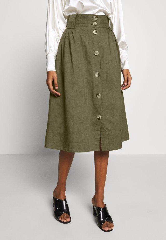 TASJA SKIRT - A-line skirt - dusky green