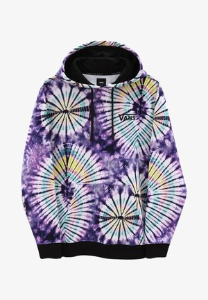 Sweat à capuche - new age purple tie dye