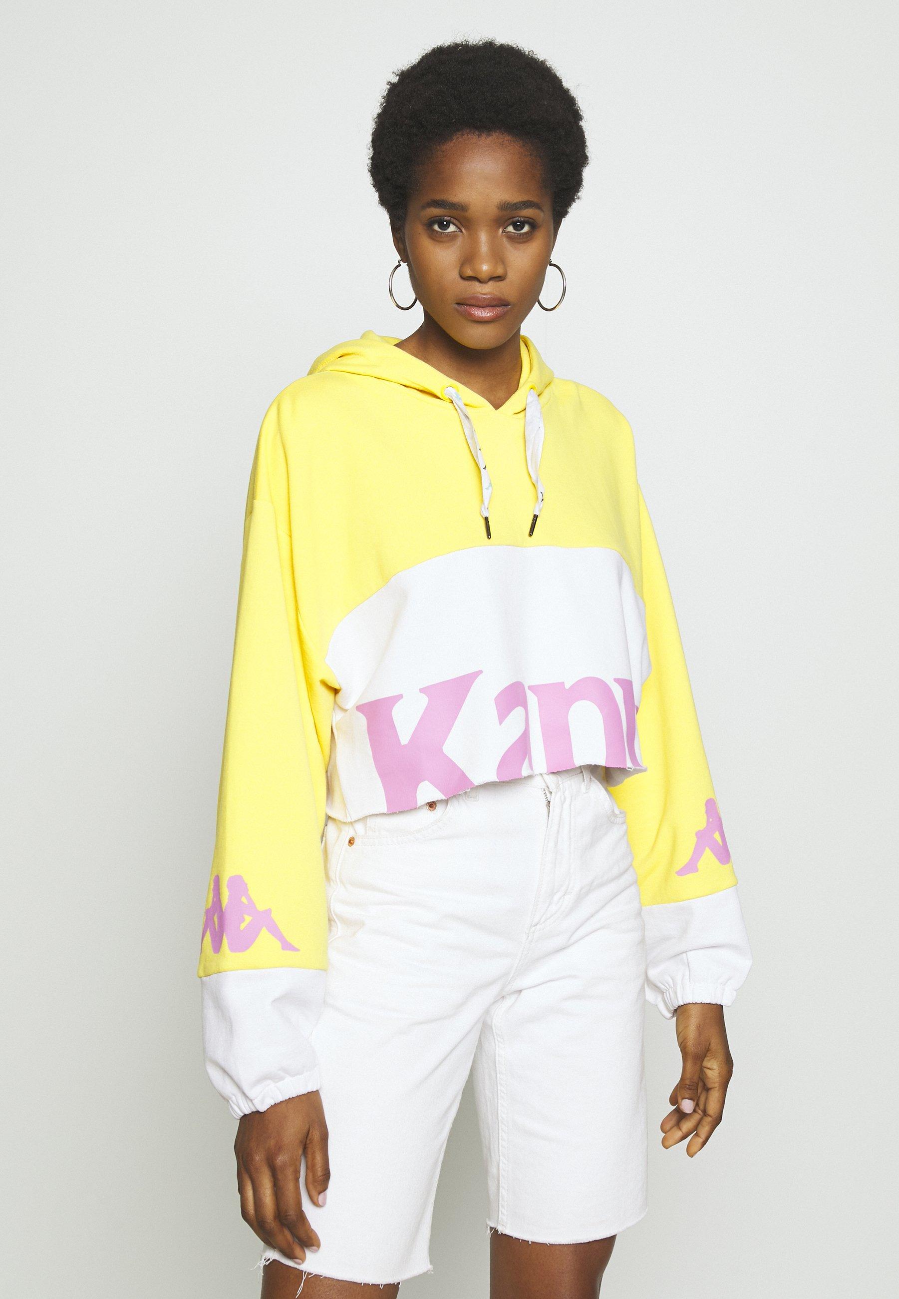 Kappa CLAYDEE Kapuzenpullover yellowpinkwhite