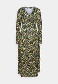 Missguided Tall - HALF BUTTON MIDI DRESS FLORAL - Korte jurk - yellow - 0