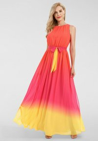 Apart - Robe longue - orangerot-pink-gelb - 1