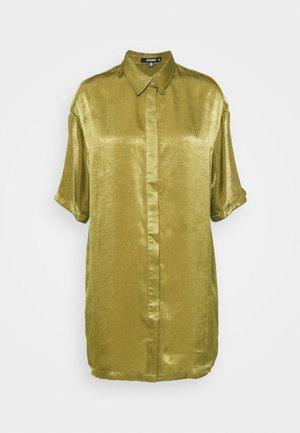 CONCEALED PLACKET OVERSIZED DRESS - Shirt dress - khaki