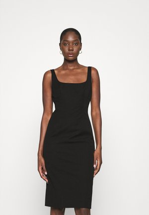 NECK SHEATH SOLID - Sukienka letnia - black