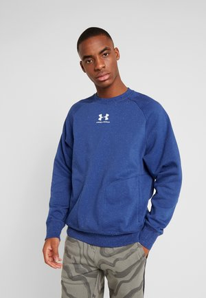 SPECKLED FLEECE CREW - Mikina - american blue/onyx white