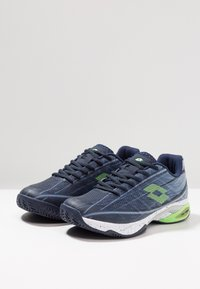 Lotto - MIRAGE 300 CLY - Zapatillas de tenis para tierra batida - navy blue/green neo/silver metal - 2