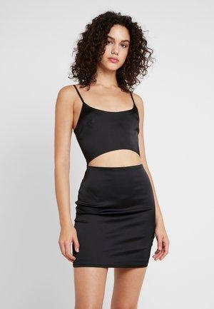 CUT OUT MINI DRESS - Jerseykjole - black