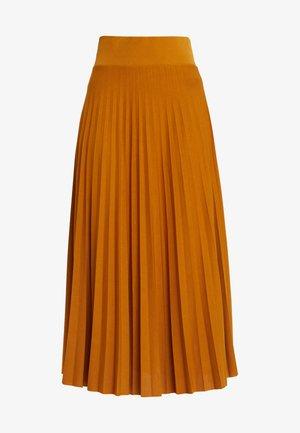 A-line skirt - golden brown