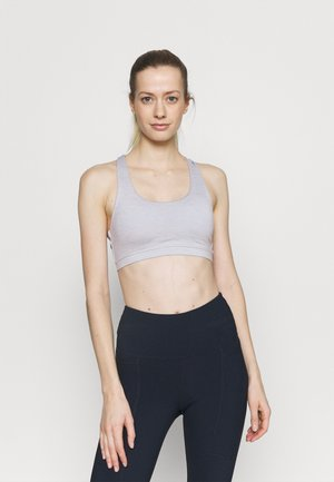 STRAPPY SPORTS CROP - Light support sports bra - grey marle